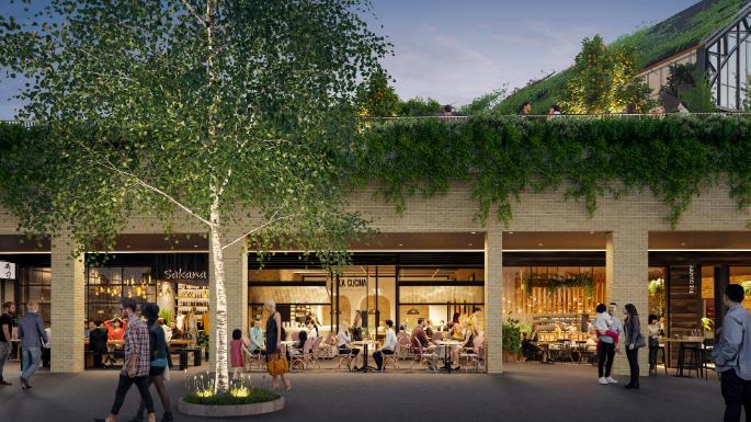 Shopping Burwood Brickworks tem 20% de área para plantação de alimentos