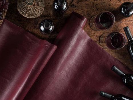 couro vegetal feito com resíduo de vinho